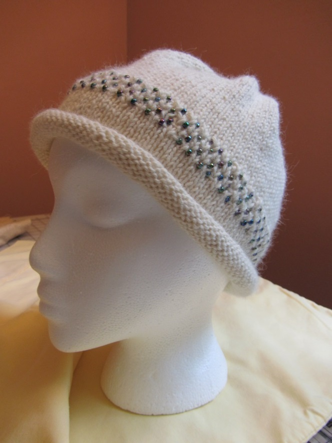 KC Knit Beaded Band Hat