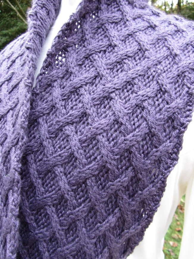 KC Knit Cape May New Jerey Lattice Cable Cowl