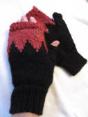 KC Kknit Points of Color Mitts knitting pattern